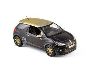 Norev NV155288 CITROEN DS3 RACING 2013 BLACK MATT & GOLD 1:43 Modellino
