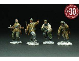 Figarti G4101E WINTER ATTACK 4 FIGURES 1/30 Modellino