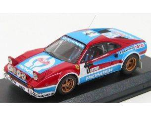Best Model BT9363 FERRARI 308 GTB N.3 ACCIDENT MONTE CARLO 1982 ANDRUET-BICHE 1:43 Modellino