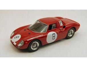 Best Model BT9399 FERRARI 250 LM N.8 9th 1000 KM NURBURGRING 1966 MULLER-MAIRESSE 1:43 Modellino