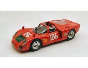 Best Model BT9422 ALFA ROMEO 33.2 N.186 2nd TARGA FLORIO 1968 GALLI-GIUNTI 1:43 Modellino
