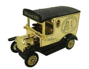 Corgi DG006213 ROYAL WEDDING MODEL T VAN 1/76 Modellino