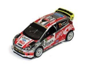 Ixo model RAM499 FORD FIESTA RS WRC N.21 9th MONTE CARLO 2012 PROKOP-HRUZA 1:43 Modellino