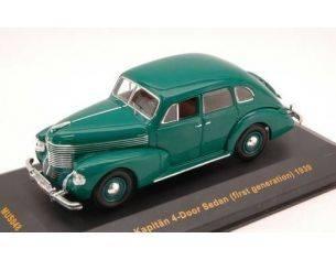 Ixo model MUS048 OPEL KAPITAN 4 DOORS SEDAN FIRST GENERATION 1939 GREEN 1:43 Modellino