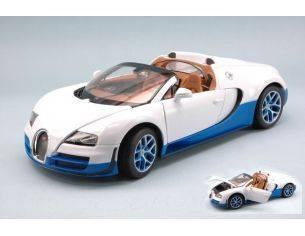 Ixo model RAT43900WB BUGATTI VEYRON 16.4 GRAND SPORT 2012 WHITE/BLUE 1:18 Modellino