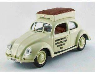 Rio 4403 VW BEETLE AMBULANCE 'FEUERWEHR' 1/43 Modellino