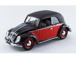Rio RI4420 VW CABRIO KARMANN 1949 BLACK/RED 1:43 Modellino