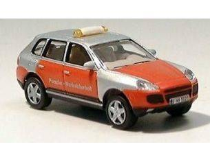 Schuco 25124 PORSCHE CAYENNE GREY ORANGE 1/87 Modellino