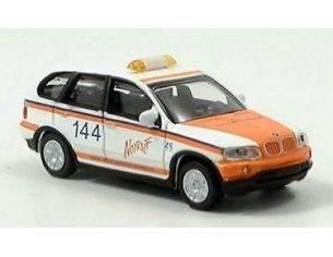 Schuco 25158 BMW X5 'NOTRUF 144' BAREN MARKE 1/87 Modellino