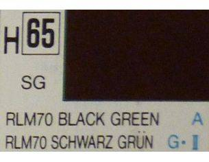Gunze GU0065 BLACK GREEN SEMI-GLOSS  ml 10 Pz.6 Modellino