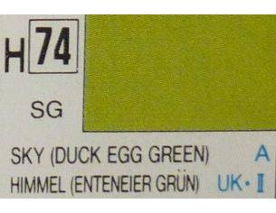 Gunze GU0074 DUCK EGG GREEN SEMI-GLOSS ml 10 Pz.6 Modellino