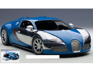 Auto Art / Gateway AA70956 BUGATTI VEYRON 2009 ED.CENTENAIRE SILVER/BLUE 1:18 Modellino