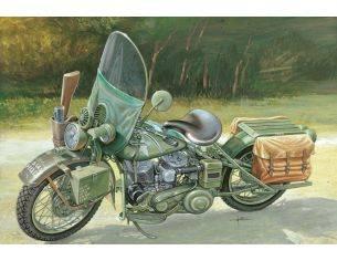 Italeri IT7401 US ARMY WW II MOTORCYCLE KIT 1:9 Modellino