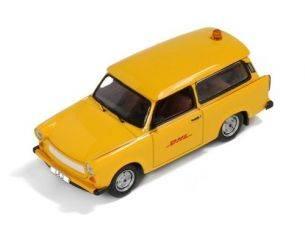 IST Models IST190 TRABANT 601 S FOLLOW ME DHL HUB LEIPZIG 2001 DDR 1:43 Modellino