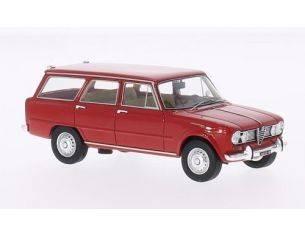 Neo Scale Models NEO46230 ALFA ROMEO GIULIA SUPER GIARDINETTA 1967 RED 1:43 Modellino