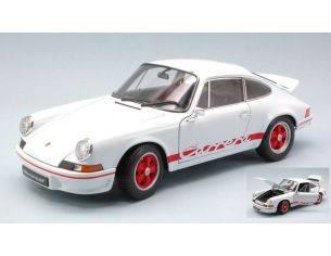Welly WE0321 PORSCHE 911 CARRERA RS 1973 WHITE W/RED STRIPES 1:18 Modellino