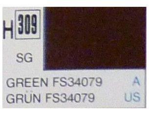 Gunze GU0309 GREEN SEMI-GLOSS ml 10 Pz.6 Modellino