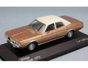 White Box WB124 DODGE CORONET 1973 GOLD/WHITE 1:43 Modellino