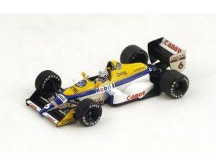 Spark Model S4028 WILLIAMS FW12 R.PATRESE 1988 N.6 6th MONACO GP 1:43 Modellino