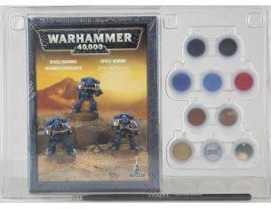 Games Workshop Warhammer 60-35 SPACE MARINE PAINT SET