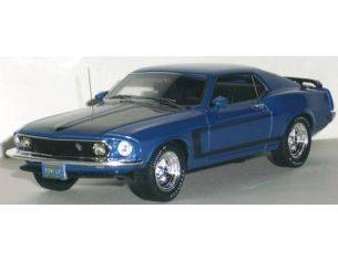 Highway 61 43002 FORD MUSTANG BOSS 302 1969 BLUE 1/43 Modellino