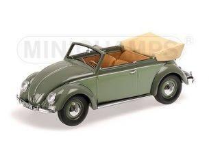 Minichamps PM107054130 VW 1200 CABRIOLET 1949 GREEN 1:18 Modellino