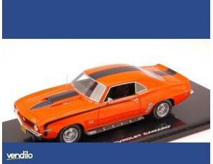 Highway 61 HGW43004 CHEVROLET CAMARO 1969 ORANGE/BLACK 1:43 Modellino