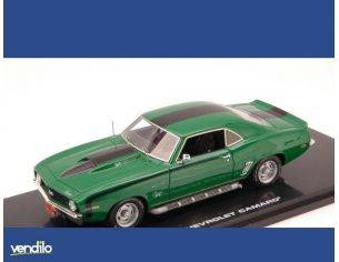 Highway 61 HGW43005 CHEVROLET CAMARO 1969 GREEN/BLACK 1:43 Modellino