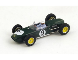 Spark Model S1825 LOTUS 18 J.SURTEES 1960 N.9 2nd BRITISH GP 1:43 Modellino