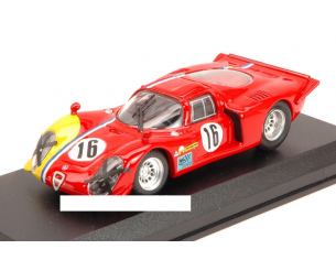 Best Model BT9578 ALFA ROMEO 33.2 COUPE' N.16 16th 1000 KM SPA 1968 GOSSELIN-TROSCH 1:43 Modellino