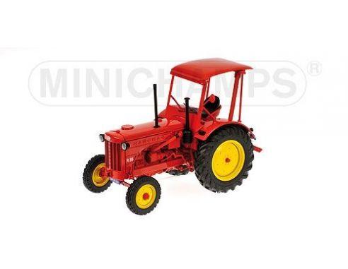 Minichamps PM109153071 TRATTORE HANOMAG R35 FARM TRACTOR WITH ROOF 1955 RED 1:18 Modellino