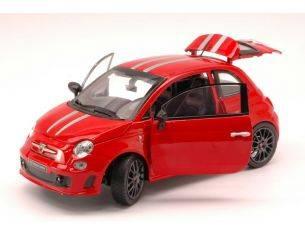 Bburago BU21070R FIAT 500 ABARTH 695 TRIBUTO FERRARI 2011 RED 1:24 Modellino