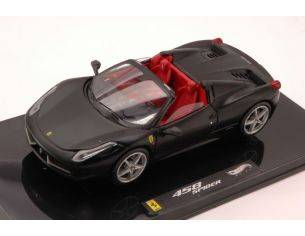 Hot Wheels HWW1184 FERRARI 458 SPIDER 2011 MATT BLACK 1:43 Modellino