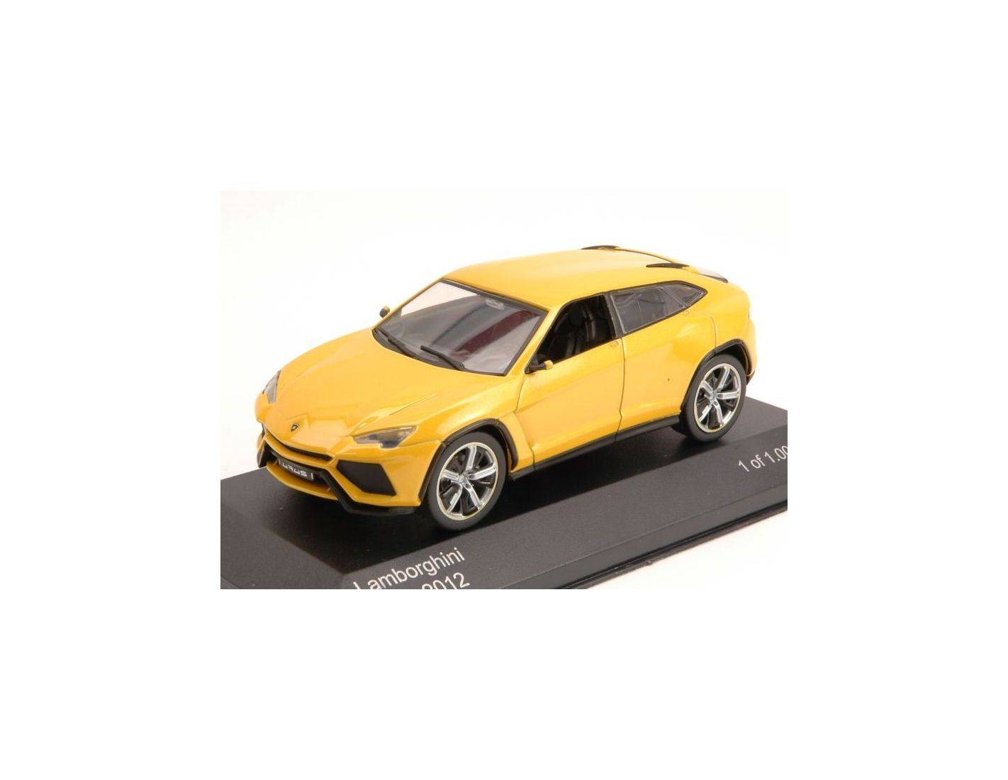 white box wb076 lamborghini urus 2012 yellow 1 43 modellino mod les r duits de collection. Black Bedroom Furniture Sets. Home Design Ideas