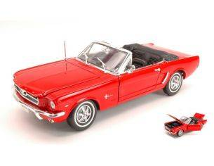 Welly WE0062 FORD MUSTANG CABRIO 1964 RED 1:18 Modellino