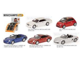 MINICHAMPS 640000003 DISPLAY CON 36 AUTO STRADALI SCALA 1/64 Modellino
