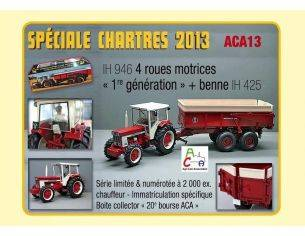 100% Pur Tracteur LM032 IH 946 4x4 + BENNA IH 425 1/32 Modellino