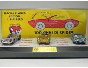 Club Bialbero MMCBA 100/3 COFANETTO 100 ANNI SPYDER DINO 206S+ Modellino