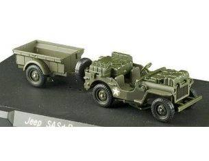 Solido 4494/31 JEEP SAS + TRAILER US 1/43 50TH Modellino