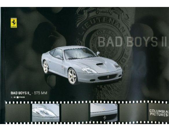 Hot Wheels Elite HWP9906 FERRARI 575 MM MARANELLO BAD BOYS II 1:18 Modellino