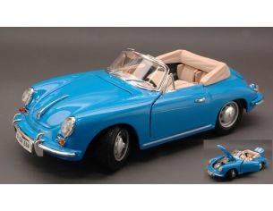 Bburago BU12025BL PORSCHE 356 B CABRIO 1961 BLUE 1:18 Modellino