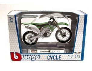 BBURAGO BU51045 KAWASAKI KX 450F 2010 1:18 Modellino