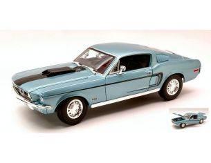 Maisto MI31167LB FORD MUSTANG GT COBRA JET 1968 LIGHT BLUE METALLIC 1:18 Modellino