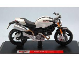 Maisto MI08056W DUCATI MONSTER 696 WHITE-PEARL 1:18 Modellino