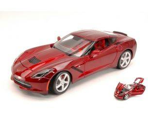 Maisto MI31182R CHEVROLET CORVETTE STINGRAY 2014 METALLIC RED 1:18 Modellino