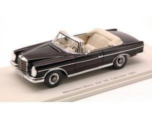Spark Model S1061 MERCEDES 300 SE CABRIO 1963 BLACK 1:43 Modellino