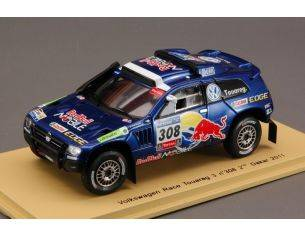 Spark Model S0824 VW RACE TOUAREG 3 N.308 2nd DAKAR 2011 1:43 Modellino