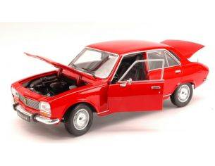 Welly WE8001 PEUGEOT 504 1974 RED 1:18 Modellino