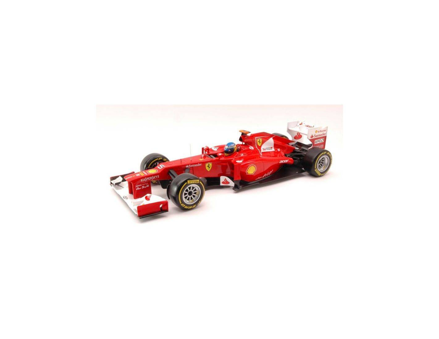 Hot Wheels HWX5520 FERRARI F.ALONSO 2012 1:18 Modellino