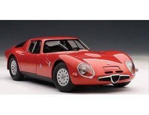Auto Art / Gateway AA70198 ALFA ROMEO TZ2 1965 RED 1:18 Modellino